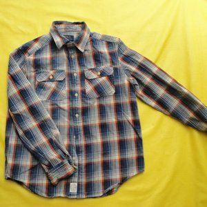 Boy Polo Ralph Lauren Plaid Button Shirt L 14 16